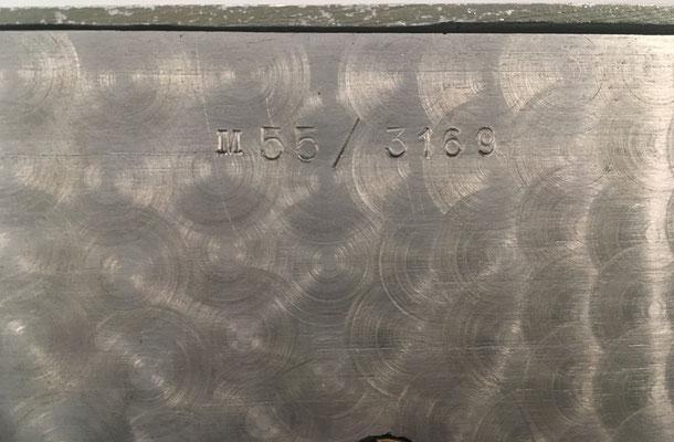 Trasera de la ARICI 55 con el número de serie M55-3169
