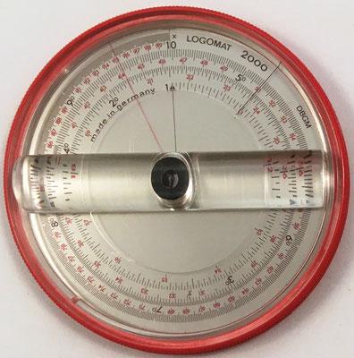 LOGOMAT-mini 2000, hecha en Alemania, hacia 1971, 9 cm diámetro