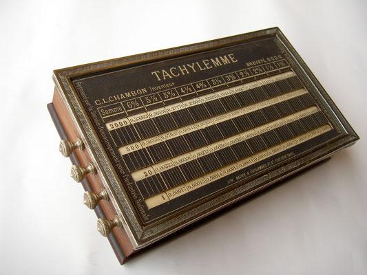 Versión 2: máquina TACHYLEMME sin mecanismo reclinable-basculante, 17x10x3.5 cm