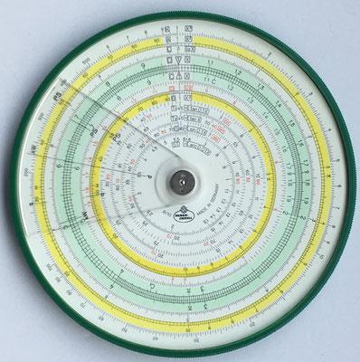 Círculo de cálculo FABER-CASTELL 8/10, año 1969, 12 cm diámetro