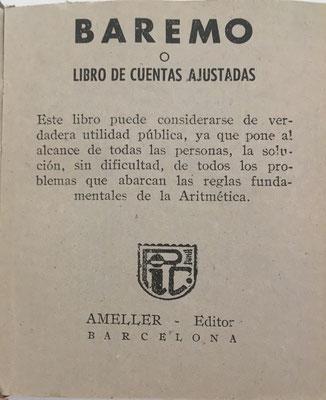 El libro contiene unas breves instrucciones de uso y se vendía al precio de 5 pesetas