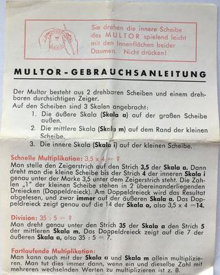 Instrucciones de uso de la regla MULTOR