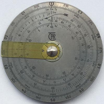 Reverso círculo de cálculo ROTOR hecho por Telefongyár Rt. (Hungary)