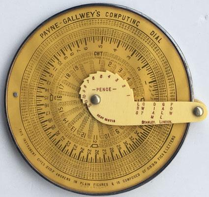 The PAYNE-GALLWEY'S Computing Dial, hacia 1920, 12,5 cm diámetro