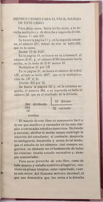 Instrucciones para el uso del libro de Cálculo General Pitagórico (cuentas ajustadas), página 1