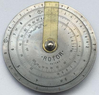 Círculo de cálculo ROTOR, año 1933, 6 cm diámetro