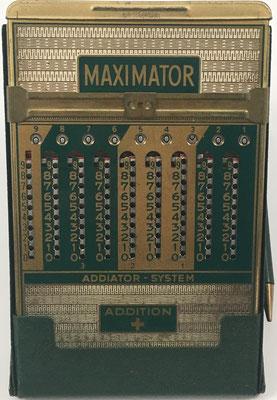 Ábaco de ranuras ADIATOR MAXIMATOR anverso para suma y multiplicación