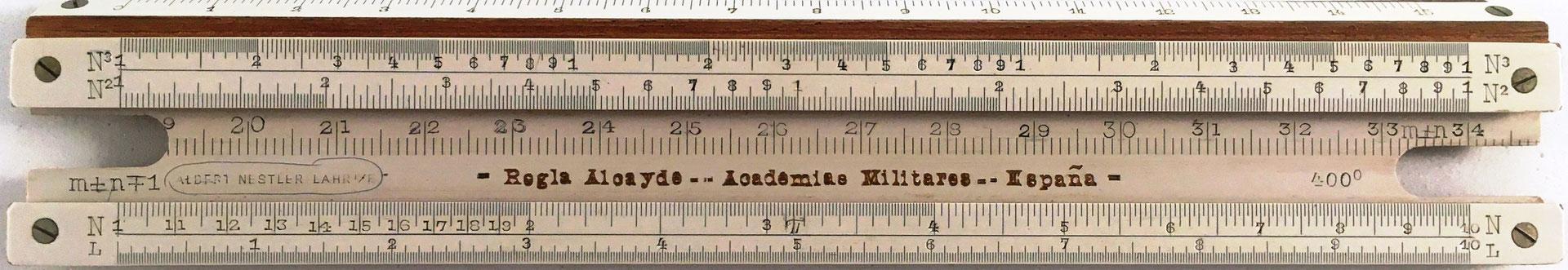 Regla Alcayde para las Academias Militares de España, encargada su fabricación a la casa alemana Nestler, año 1914