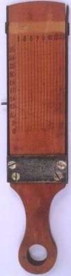 Paleta transportador, sin nombre, se utiliza junto con el Sector para navegación y realización de cálculos, 15x3.5 cm