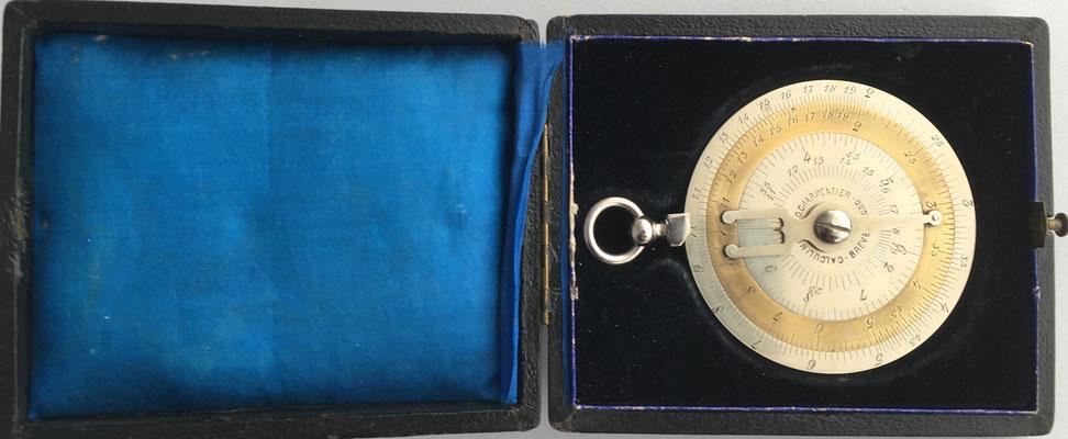 Calculimetre CHARPENTIER alojada en la caja