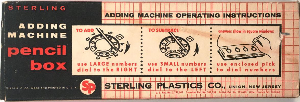 Reverso del estuche para lapiceros DIAL-A-MATIC, con instrucciones de uso