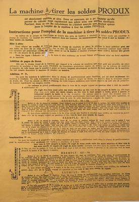 Anverso instrucciones de uso para Original PRODUX MA
