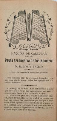 Segunda edición aumentada. El libro acompañaba al aparato de la figura. Se utilizaban ambos para realizar cualquier multiplicación reduciéndola a la suma de sus productos parciales