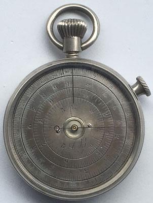 AB, reverso de la regla circular A. BOUCHER (Hâvre) ( muy raro, precio estimado: 500€)