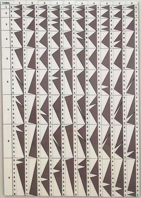 """Regletas financieras """"multiplicatrices"""" neperianas de GENAILLE y LUCAS (réplica), Francia, año 1891, 2 caras. Para multiplicaciones de forma directa, sin necesidad de hacer sumas"""