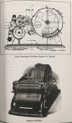 Calculadora de Frank Stephen Baldwin, patente del año 1875