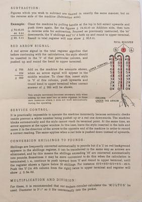 Instrucciones para el uso de ADDMASTER JUNIOR, reverso