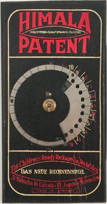 Calculadora educativa HIMALA, año 1922, 17x9 cm