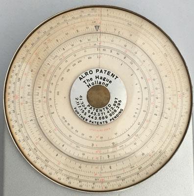 Círculo de cálculo ALRO modelo 200R, The Hague-Holland (La Haya, Holanda), 12 cm diámetro