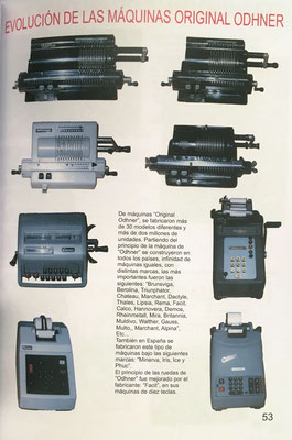 También está muy presente una gran variedad de calculadoras mecánicas