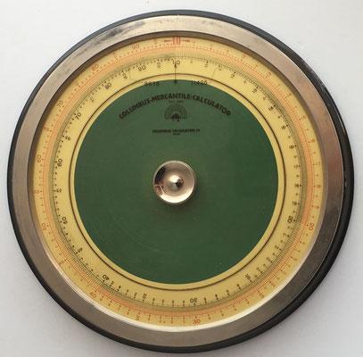 Círculo de cálculo COLUMBUS MERCANTILE Calculator, año 1922, hecho en Viena