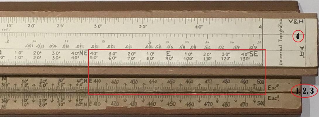 """Modificación de la escala """"Declinógrafo"""" del modelo 1 respecto del 2"""
