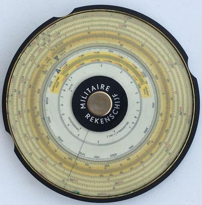 Círculo de cálculo ALRO MILITAIRE REKENSCHIJF, año 1950, 12 cm diámetro (estimación: 250 €, rara)