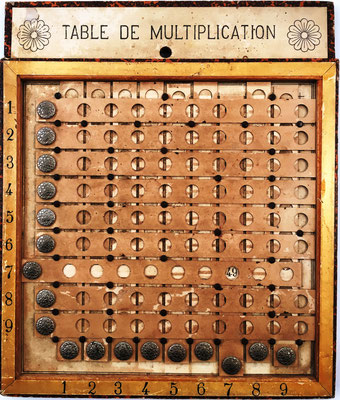 Tabla de multiplicación LA PÉDAGOGIE MODERNE, resultado del producto 7 por 7