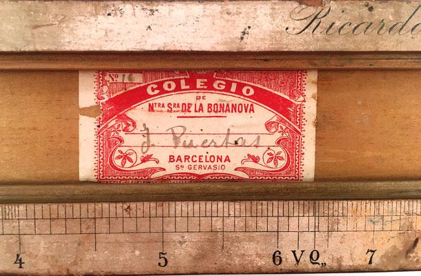 Regla de cálculo aritmético R. CARO, colegio Nuestra Señora de la Bonanova (San Gervasio, Barcelona), s/n 16, J. Puertas