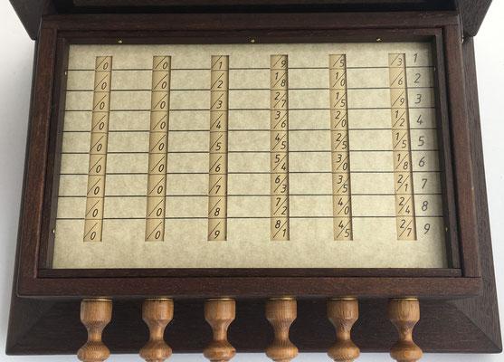 Calculadora SCHOTT, año 1668, réplica hecha en Alemania, 27x20x8 cm