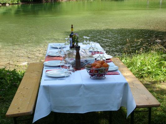 Apéro oder Picknick am Palpuognasee, Preda