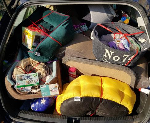 Kofferraum gut gefühlt :-)