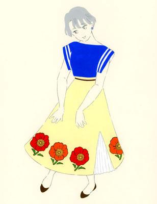 レトロ・フラワー(ポットや食器のお花)