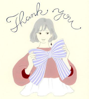 Thank You/グリーティングカード想定イラスト