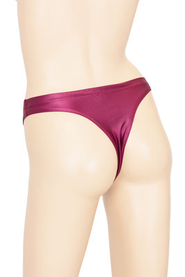 Damen Wetlook String-Slip Bordeaux