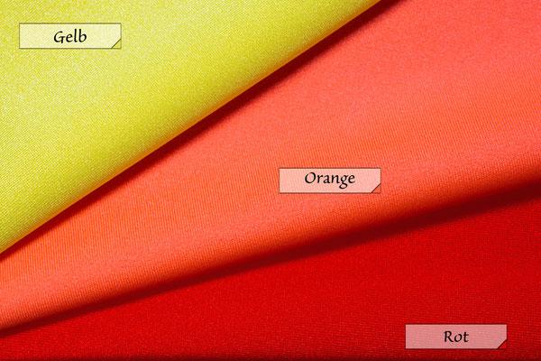 Stoff Jersey Gelb Orange Rot 80% Polyamid 20% Elasthan