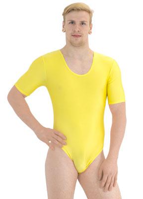 Herren Body kurze Ärmel Gelb