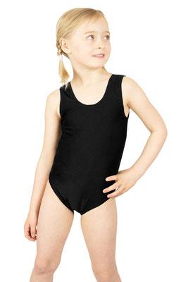 ML-Sport24 Kinder Gymnastikanzug ohne Ärmel Schwarz