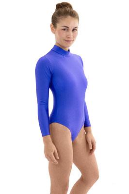 Damen Body lange Ärmel Rücekn-RV Royalblau