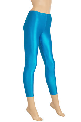 ML-Sport24 Damen Wetlook Leggings Türkis