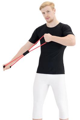 T-Shirts kurze Ärmel Slim Fit Schwarz