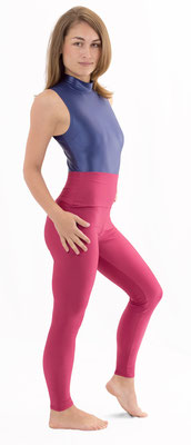 Damen High-Waist Leggings Bordeaux