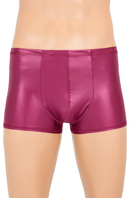 Herren Wetlook Boxer Slip Bordeaux