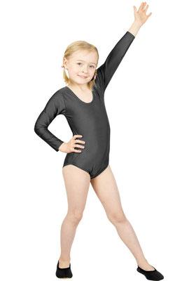ML-Sport24 Kinder Gymnastikanzug lange Ärmel Anthrazit