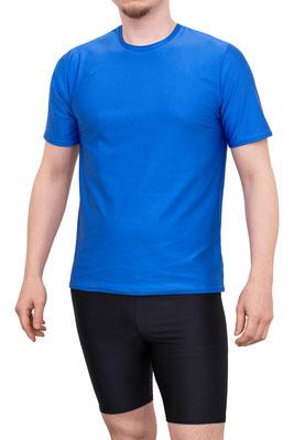 T-Shirt kurze Ärmel Comfort Fit Royalblau