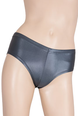 Damen Wetlook Panty Anthrazit