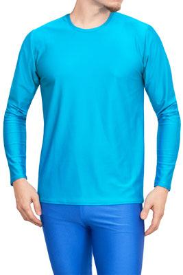 T-Shirt lange Ärmel (longsleeve) Comfort Fit Türkis