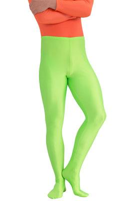 ML-Sport24 Leggings mit Fuß Neongrün