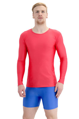 T-Shirts lange Ärmel (longsleeve) Slim Fit Rot