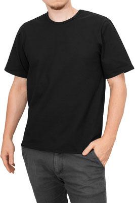 T-Shirt kurze Ärmel Comfort Fit Athleisure Schwarz